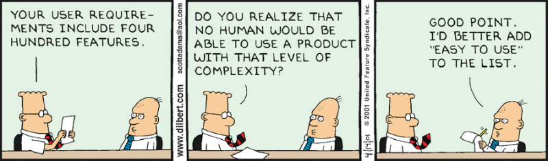 Dilbert - User requirements